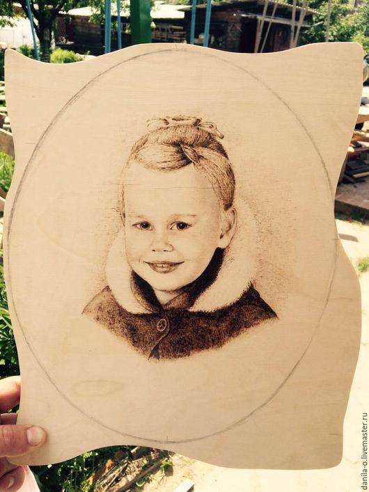Персональные подарки ручной работы. Ярмарка Мастеров - ручная работа. Купить Портрет по дереву. Handmade. Комбинированный, дерево, выжигание