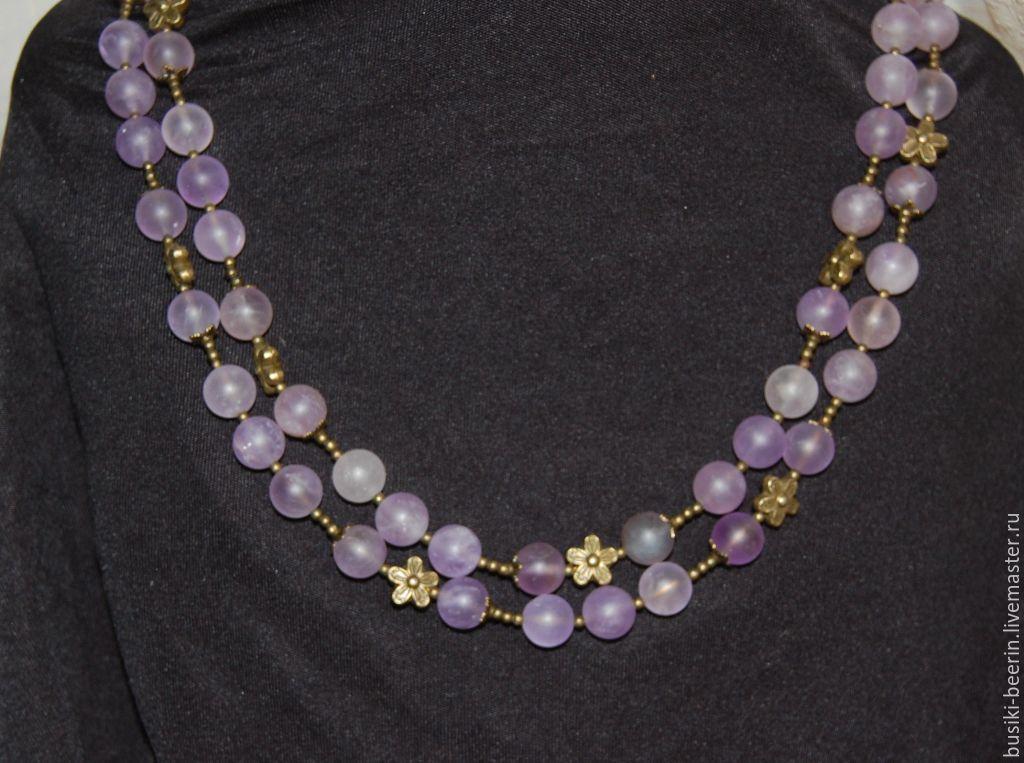 ручной работы. Ярмарка Мастеров - ручная работа. Купить Аметистовое ожерелье.  Handmade. c693de29ff9c4