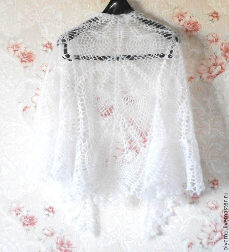 Shawls & Warm Stoles handmade. Livemaster - handmade. Buy shawl crochet. Swan feather.Handmade, fashion trend