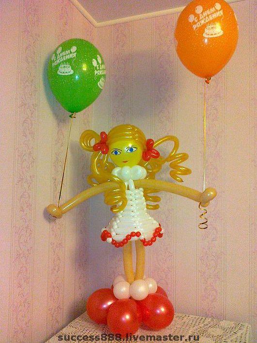 оригинальный подарок, девочка из воздушных шаров, фигурки из воздушных шаров, шары с гелием, шар-сюрприз