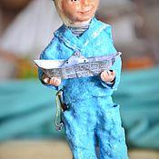 Сувениры и подарки handmade. Livemaster - original item Gifts on February 23: A boy with a boat. Handmade.