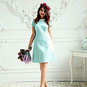 Одежда handmade. Livemaster - original item Jacquard dress with pearls. Handmade.