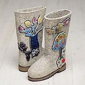 """Обувь ручной работы. Ярмарка Мастеров - ручная работа Валенки """"Гламурные"""" светлые. Handmade."""