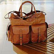 Сумки и аксессуары handmade. Livemaster - original item Travel leather bag SKIF mini red. Handmade.