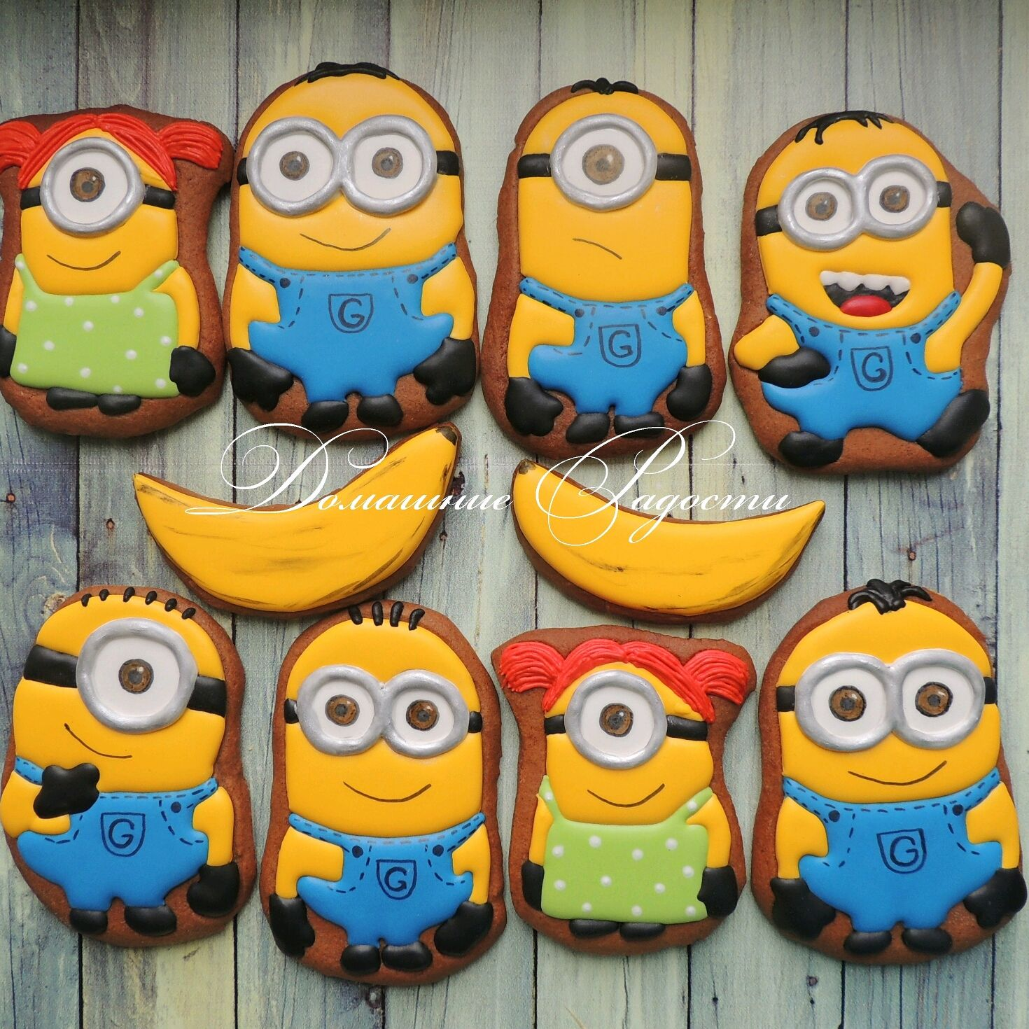 Печенье миньоны своими руками фото 867