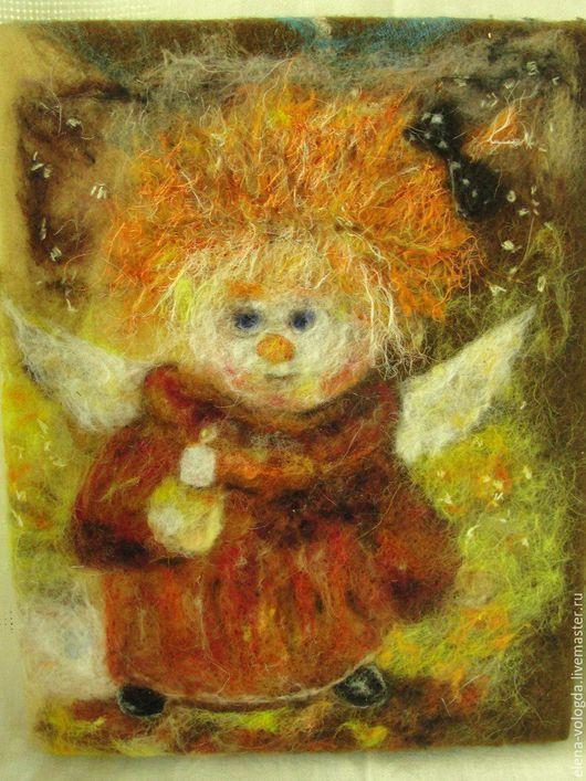 """Детская ручной работы. Ярмарка Мастеров - ручная работа. Купить Картина """"Ангелочек"""". Handmade. Рыжий, картина в подарок, детская"""