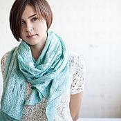 Аксессуары handmade. Livemaster - original item Mint scarf tippet-gossamer kobveb. Handmade.