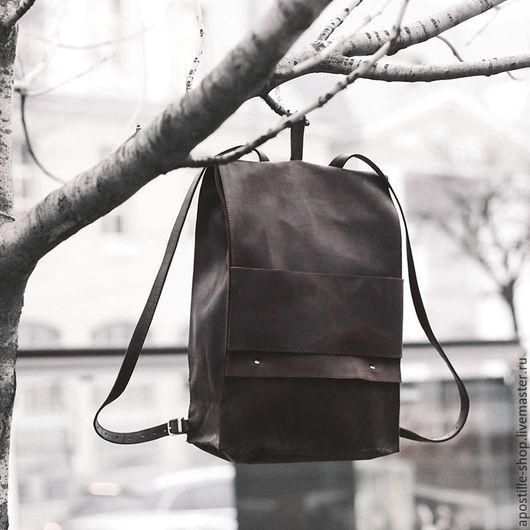 Рюкзаки ручной работы. Ярмарка Мастеров - ручная работа. Купить Рюкзак GoTravel Vintage 15'' Brown. Handmade. Коричневый, macbook