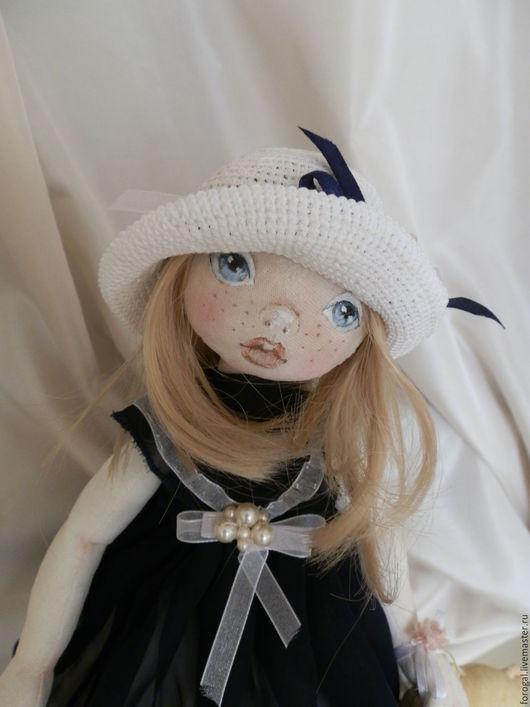 Коллекционные куклы ручной работы. Ярмарка Мастеров - ручная работа. Купить Авторская текстильная кукла Моника. Handmade. Тёмно-синий