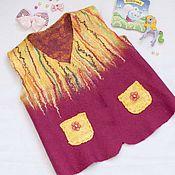 Одежда ручной работы. Ярмарка Мастеров - ручная работа Жилет валяный детский для девочки 3-4 лет. Handmade.