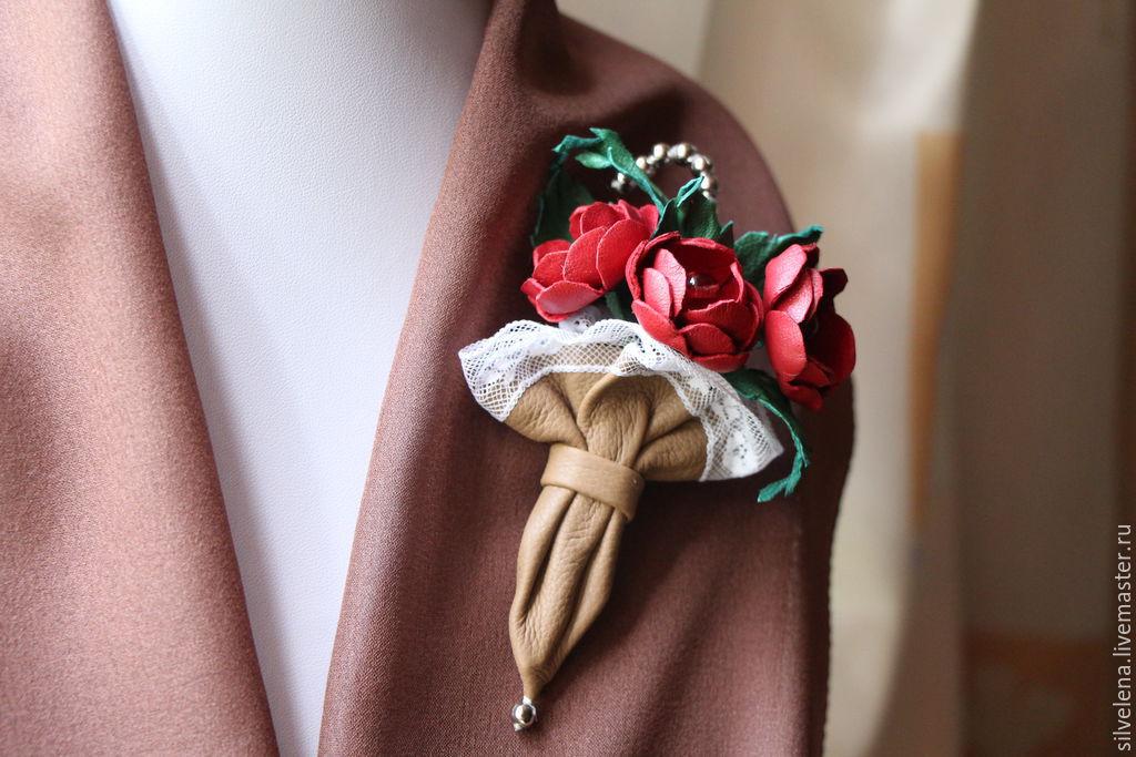 Красивые броши из ткани фото