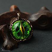 Украшения handmade. Livemaster - original item Pendant: Green dragon eye. Handmade.