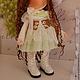 Коллекционные куклы ручной работы. Текстильная куколка- малышка Грибулька. Юлия Соколова. Ярмарка Мастеров. Кукла интерьерная, шерсть овечья