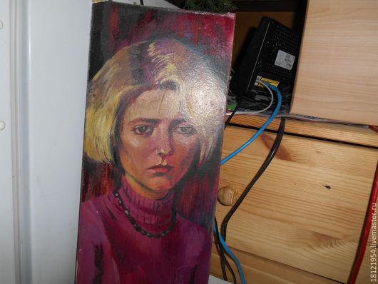 Люди, ручной работы. Ярмарка Мастеров - ручная работа. Купить Портрет девушки.(картина маслом). Handmade. Разноцветный, двп