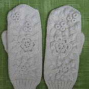 Аксессуары ручной работы. Ярмарка Мастеров - ручная работа Варежки с вышивкой № 11. Handmade.