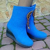 Обувь ручной работы. Ярмарка Мастеров - ручная работа Сапожки из шерсти Медальон. Handmade.