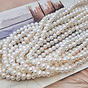 Материалы для творчества handmade. Livemaster - original item 10 PCs. Pearls of natures. 4-4,5 mm white AA (3592). Handmade.