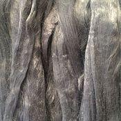 Материалы для творчества ручной работы. Ярмарка Мастеров - ручная работа Вискоза для валяния . Светло -серый 50гр-80р. Handmade.