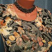 Одежда ручной работы. Ярмарка Мастеров - ручная работа Платье Винтажные цветы. Handmade.