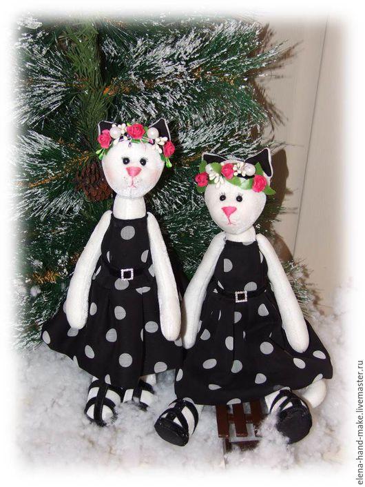 Куклы Тильды ручной работы. Ярмарка Мастеров - ручная работа. Купить Тильда Кошка. Handmade. Белый, тильда кукла