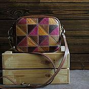 Сумки и аксессуары handmade. Livemaster - original item Bag made of genuine leather in a patchwork technique fuchsia. Handmade.