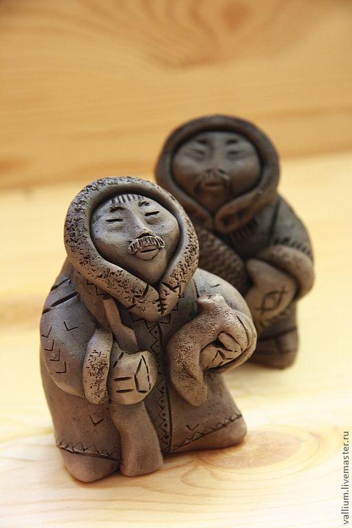 Коллекционные куклы ручной работы. Ярмарка Мастеров - ручная работа. Купить Эвены. Handmade. Коричневый, окарина, Керамика, этно, дымление