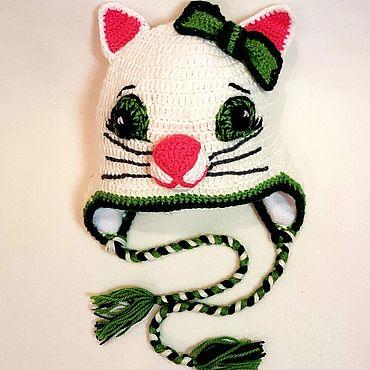 """Одежда ручной работы. Ярмарка Мастеров - ручная работа Шапки: Детская шапка """"Котёнок"""" на флисе. Handmade."""
