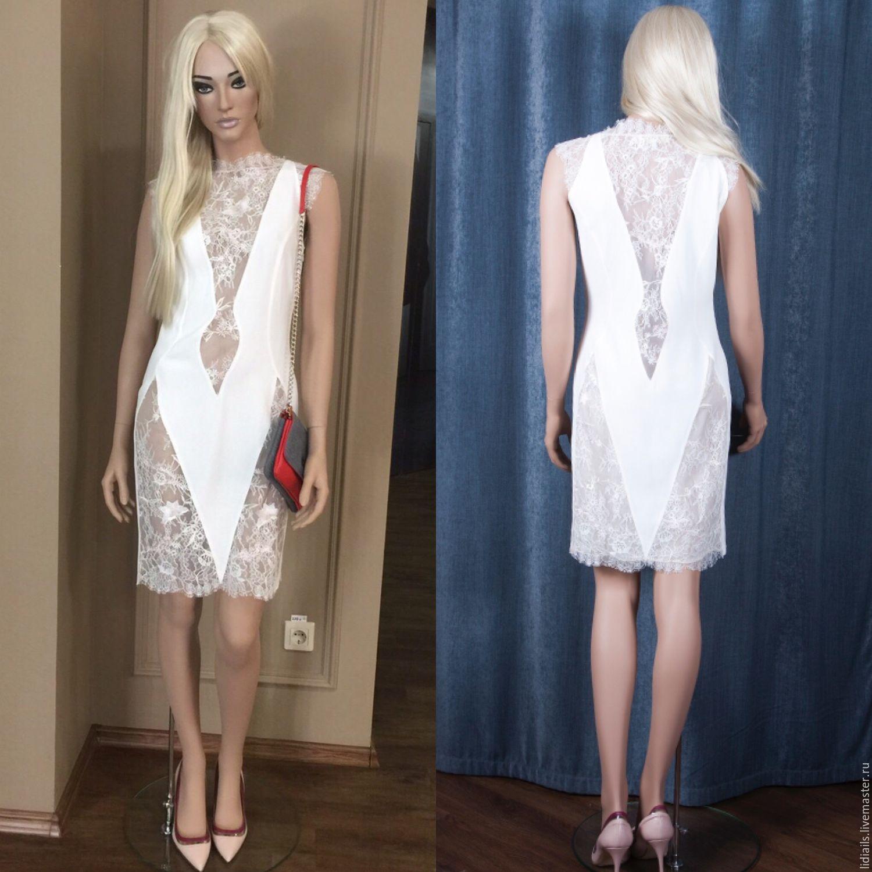 Шелковые платья с кружевом купить