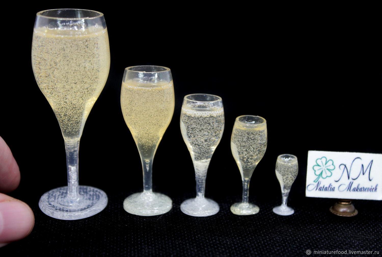 бокалы с шампанским, Кукольная еда, Щелково,  Фото №1