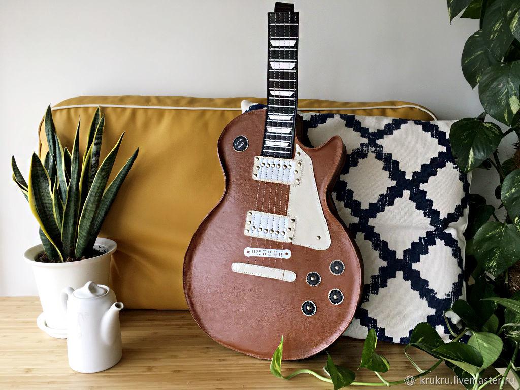 Сумка Гитара Гибсон Les Paul из кожи или эко кожи, Классическая сумка, Москва,  Фото №1