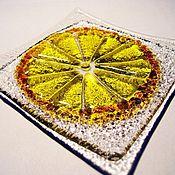 Тарелки ручной работы. Ярмарка Мастеров - ручная работа Тарелочка для лимона.. Handmade.
