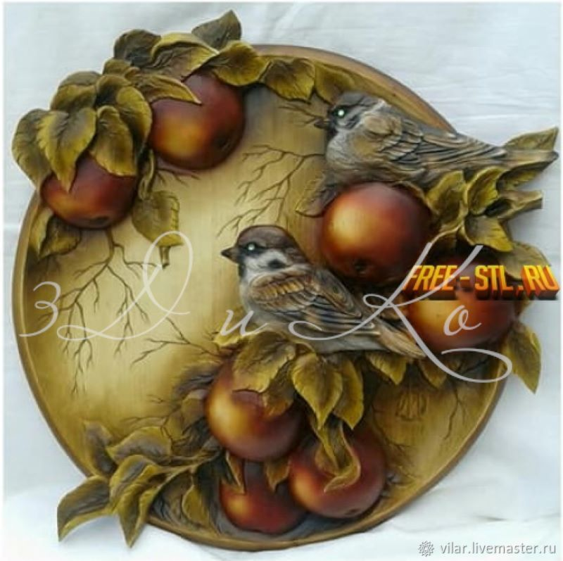 """Медальон """" Птички на яблоне"""", Декор для декупажа и росписи, Балашиха,  Фото №1"""