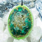Фен-шуй и эзотерика handmade. Livemaster - original item Pendant organic, organdy amulet: mining quartz, malachite. Handmade.
