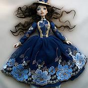 Куклы и игрушки ручной работы. Ярмарка Мастеров - ручная работа Барышня в синем. Handmade.