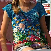 """Одежда ручной работы. Ярмарка Мастеров - ручная работа Топ """"На дне Красного моря"""". Handmade."""