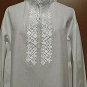 Одежда handmade. Livemaster - original item Men`s embroidered shirt MP3-61. Handmade.