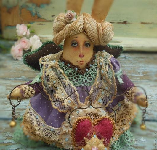 Коллекционные куклы ручной работы. Ярмарка Мастеров - ручная работа. Купить Гостинчик от зайчика.... Handmade. Коричневый, подарок на новый год, бубенцы