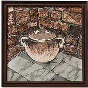 Картины и панно ручной работы. Ярмарка Мастеров - ручная работа Картины на стекле, сосуд для олив-го масла из Доминиканского монастыря. Handmade.