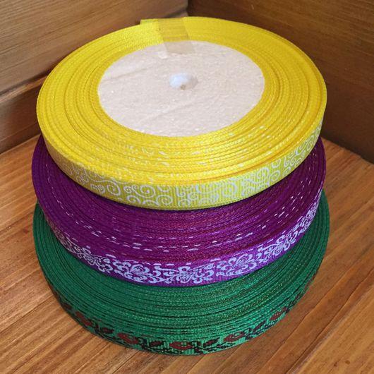 Шитье ручной работы. Ярмарка Мастеров - ручная работа. Купить Репсовая лента с рисунком 10 мм. Handmade. Репсовая лента
