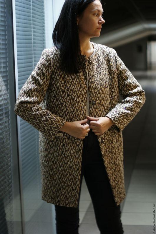 Верхняя одежда ручной работы. Ярмарка Мастеров - ручная работа. Купить Пальто Осень. Handmade. Бежевый, пальто демисезонное, межсезонье