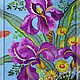 Blouses handmade. Order Tunic 'Irises', azure flax. Individual vyshivanka. (oksanetta). Livemaster. Buy embroidery, stock, ukrainian clothes