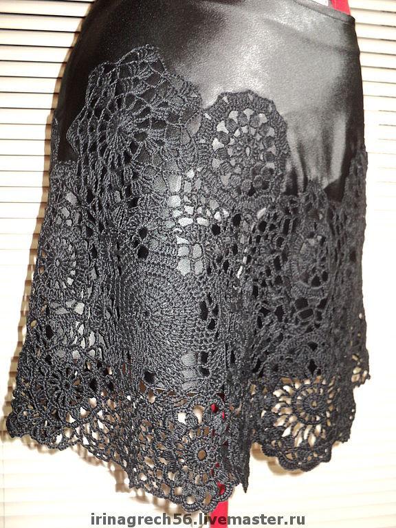 Гламурные юбки вязание крючком