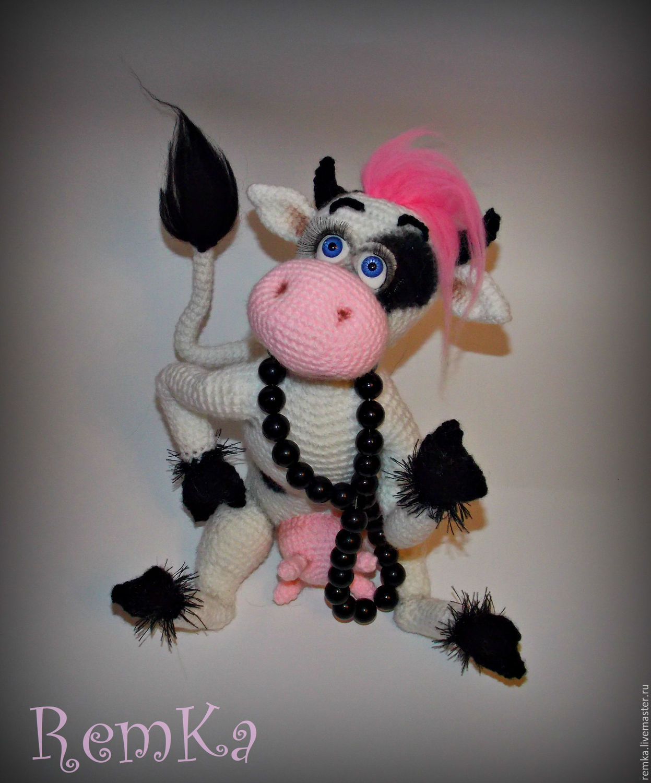 вязание крючком корова схема