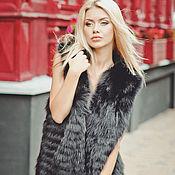 """Одежда ручной работы. Ярмарка Мастеров - ручная работа Меховой жилет из лисы """"Black"""". Handmade."""