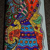 "Канцелярские товары ручной работы. Ярмарка Мастеров - ручная работа Обложка на паспорт ""Зентагл"". Handmade."