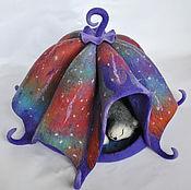 Для домашних животных, ручной работы. Ярмарка Мастеров - ручная работа Домик для кошки или собачки валяный войлочный шерстяной. Оле Лукойе. Handmade.