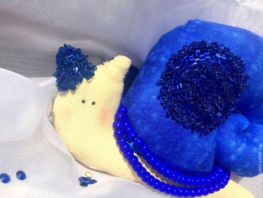 """Куклы Тильды ручной работы. Ярмарка Мастеров - ручная работа. Купить Улитка в стиле """"Тильда"""". Handmade. Тёмно-синий, мулине"""