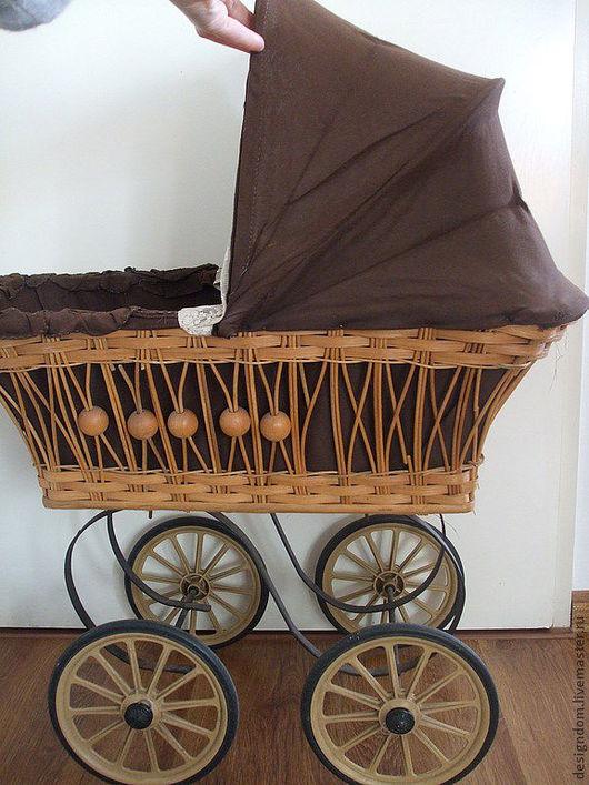 Винтажные куклы и игрушки. Ярмарка Мастеров - ручная работа. Купить Винтажная коляска Большая антик. Handmade. Коляска антик, дерево