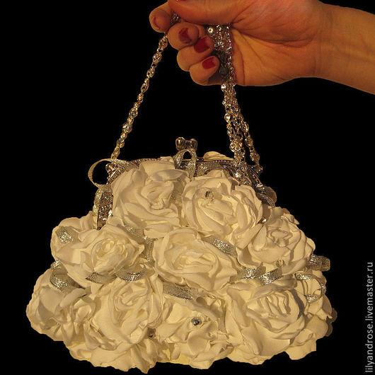 Одежда и аксессуары ручной работы. Ярмарка Мастеров - ручная работа. Купить Свадебная сумочка. Handmade. Белый, свадебная сумка