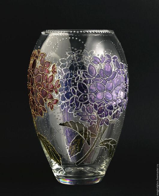 """Вазы ручной работы. Ярмарка Мастеров - ручная работа. Купить Ваза для цветов """"Гортензии"""". Handmade. Комбинированный, ваза декоративная"""